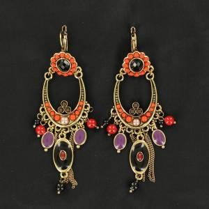 Blazin Roxx Flower Chandelier Earrings