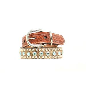 Double Barrel Rhinestone & Nailhead Dog Collar