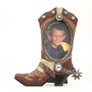 Western Moments 4x6 Boot Oval Frame