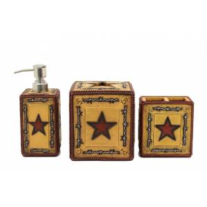 Western Moments Star Barbwire Vanity Set