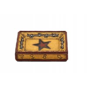 Western Moments Star Barbwire Soap Dish