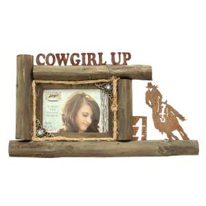 Western Moments 4x6 Cowgirl Up Frame