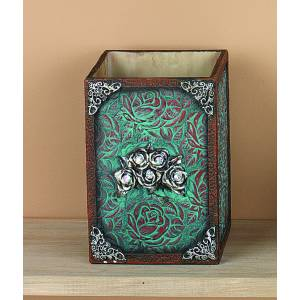 Western Moments Ant Rose Waste Basket