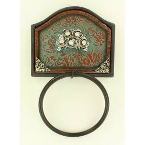 Western Moments Ant Rose Towel Ring