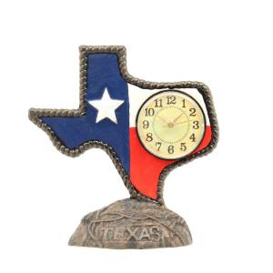 Western Moments Texas Cast Iron Desk Clock
