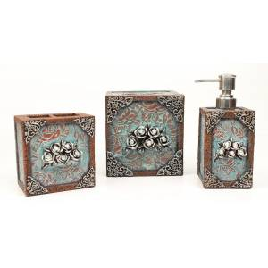 Western Moments Ant Rose Bathroom Set