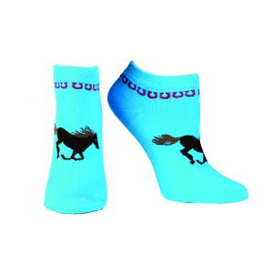 Ariat Spirit No Show Socks - Ladies, Blue