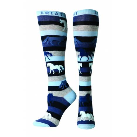 Ariat Lineage Knee Sock - Ladies, Blue