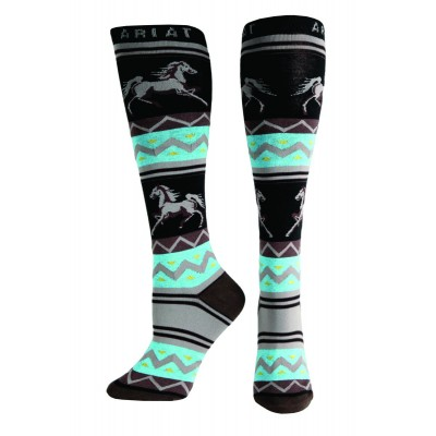 Ariat Apache Knee High Socks - Ladies, Coffee