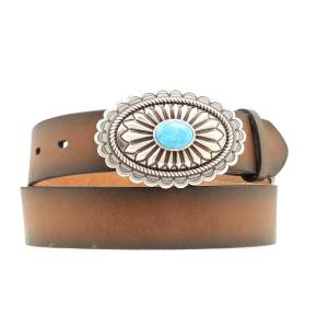 Ariat Turquoise Oval Buckle Belt - Ladies