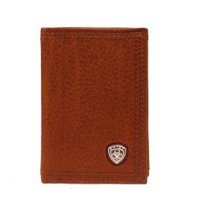 ARIAT Mens Tri-fold Shield Work Wallet