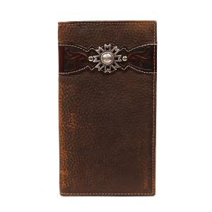 ARIAT Mens Rodeo Wallet with  Overlay & Concho