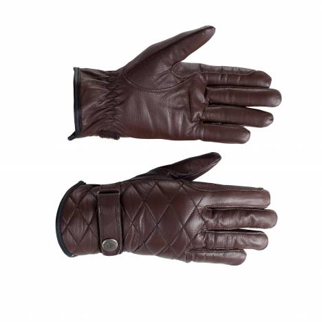 Horze Selena Quilted Leather Gloves - Ladies