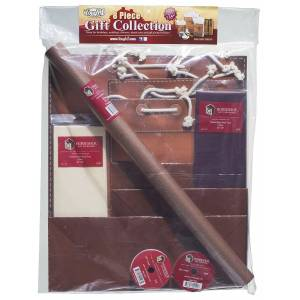 Tooled Leather Gift Wrap 8 Pack