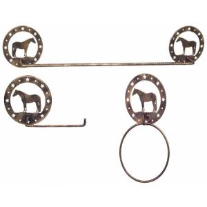 Gift Corral 3-Piece Bathroom Set - Quarter Horse