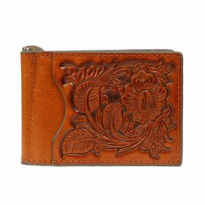 Nocona Pro Tooled Bi-fold Money Clip