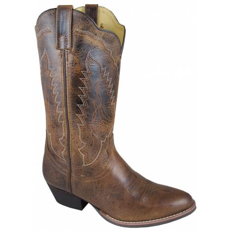 Smoky Boots Amelia R-Toe Boots - Ladies, Distressed Brown