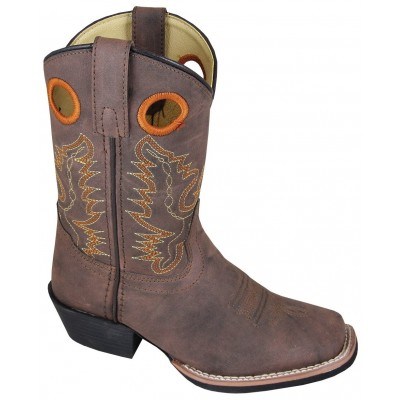Smoky Mountain Memphis Boots - Kids, Distressed Brown