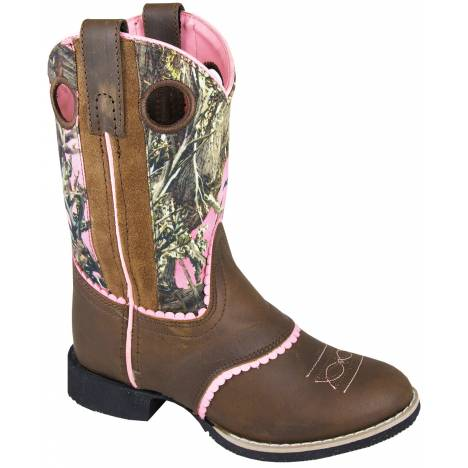 Smoky Mountain Ruby Belle Boots - Kids, Brown/Pink Camo