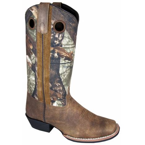 Smoky Mountain Tupelo Square Toe Boots - Ladies, Brown/Brown Camo