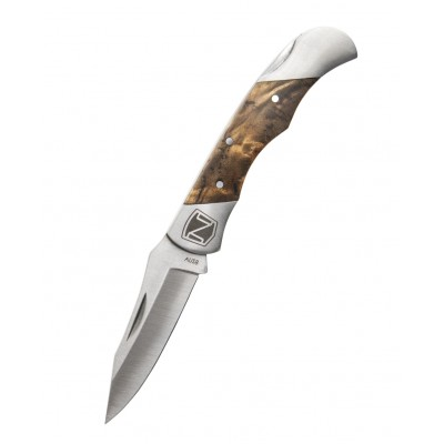 Noble Outfitters Straight Flush Knife - Wood Grain