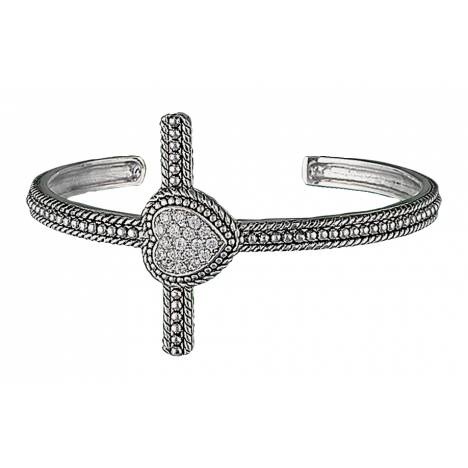 Montana Silversmiths Faith's Heart Cross Cuff Bracelet