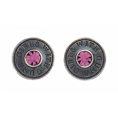 Montana Silversmiths Girls with Guns Back of the Bullet Charm Post Earrings