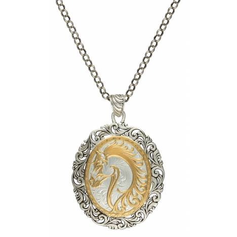 Montana Silversmiths Portrait of a Cowgirl's Love Pendant Necklace