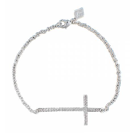Montana Silversmiths The Straight Path Cross Bracelet in Antique