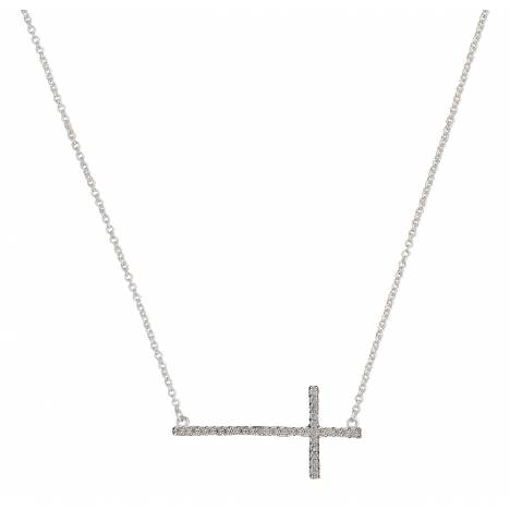 Montana Silversmiths The Straight Path Cross Necklace in Antique