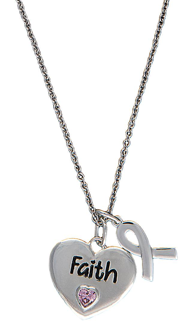 Montana Silversmiths Tough Enough to Wear Pink Cowgirl Heart Charm Necklace