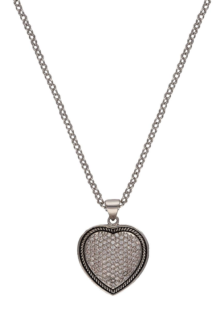 Montana Silversmiths Vintage Charm Quilted Heart Necklace