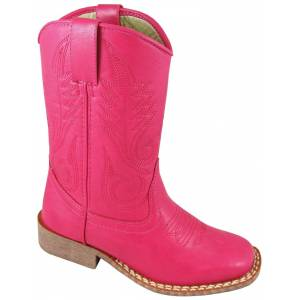 Smoky Boots Amarillo Square Toe Boots - Youth, Raspberry
