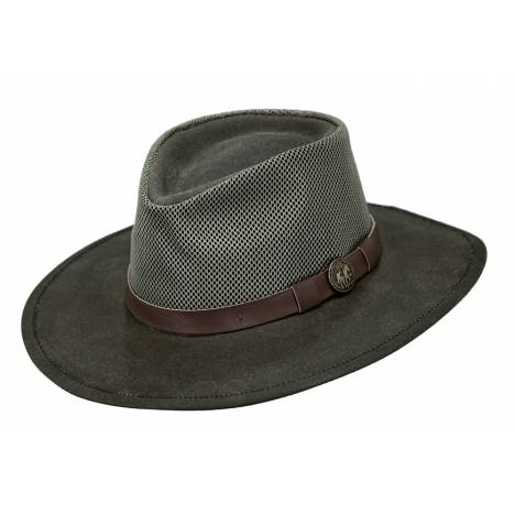 Outback Trading Kodiak Oilskin and Mesh Hat- Men's