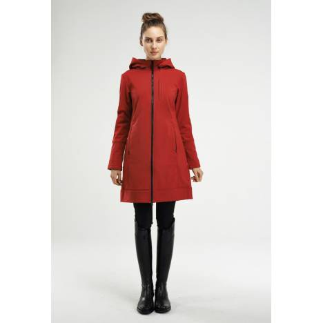 Asmar Ladies All Weather Rider Coat- Scarlet