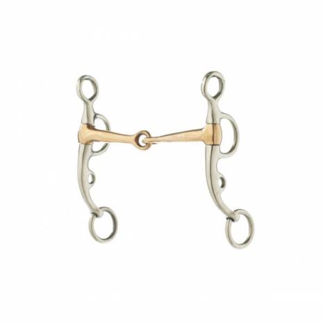 Turn-Two Stainless Steel Copper Snaffle Argentine Bit