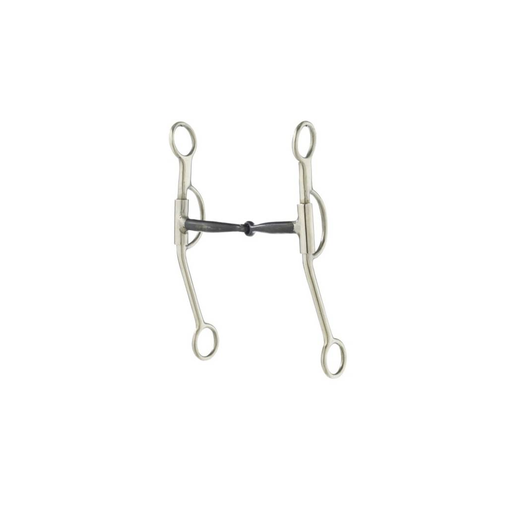Turn-Two Stainless Steel Sweet Iron Snaffle Double Rein Bit