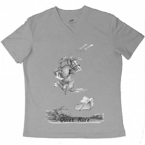 "Intrepid ""A Quiet Ride"" V-Neck Tee Shirt - Ladies"