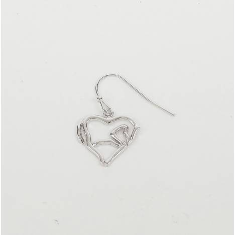 Horse Body/Heart Earrings