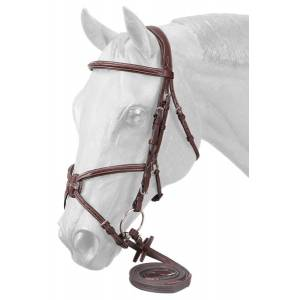 EquiRoyal Premium Padded Fancy Stitched Raised Figure Eight English Bridle