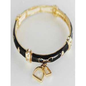 Finishing Touch Enamel Stirrup Bracelet