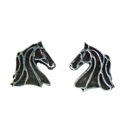 Finishing Touch Profile Line Horse Head Earrings