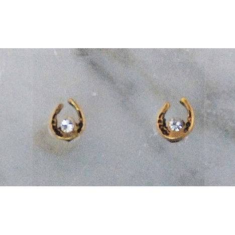 Finishing Touch Mini Horseshoe With Crystal Stone Earrings
