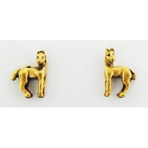 Finishing Touch Horse With Head Turned Earrings
