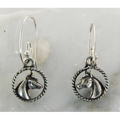 Finishing Touch French Wire Arabian Horse Head Earrings