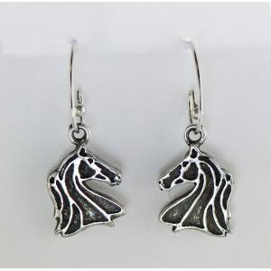 Finishing Touch French Wire Outline Horse Head Earrings