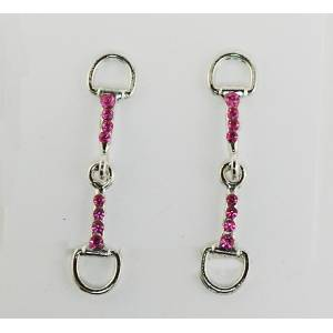 Finishing Touch Snaffle Bit With Stone Earrings