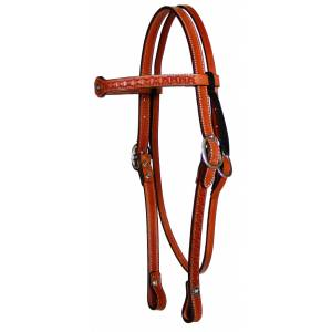 Circle Y Old West Tooled Browband Headstall