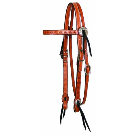 Circle Y Spider Tooled Browband Headstall