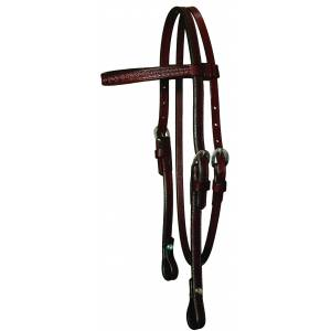 Circle Y Border Tooled Browband Headstall